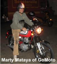 Marty Mataya of GoMoto on the SYM Wolf Classic Motorcycle